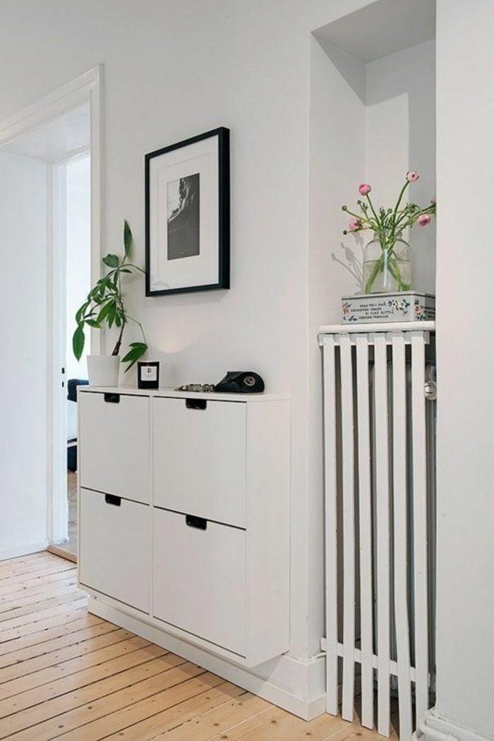 07-Papier peints pour couloir tout en blanc.