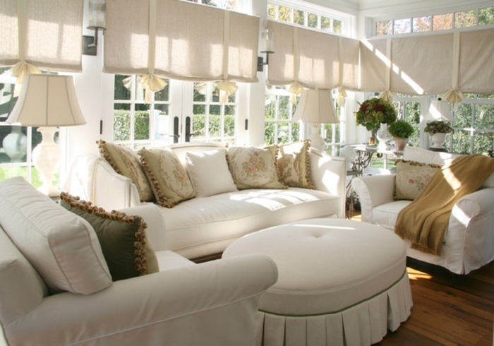 deco-veranda-traditionnelle-formidable-décor-en-blanc-style-raffiné