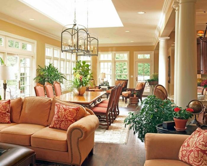 deco-veranda-traditionnelle-veranda-très-spacieuse-aménagée-en-salle-à-manger-et-cuisine