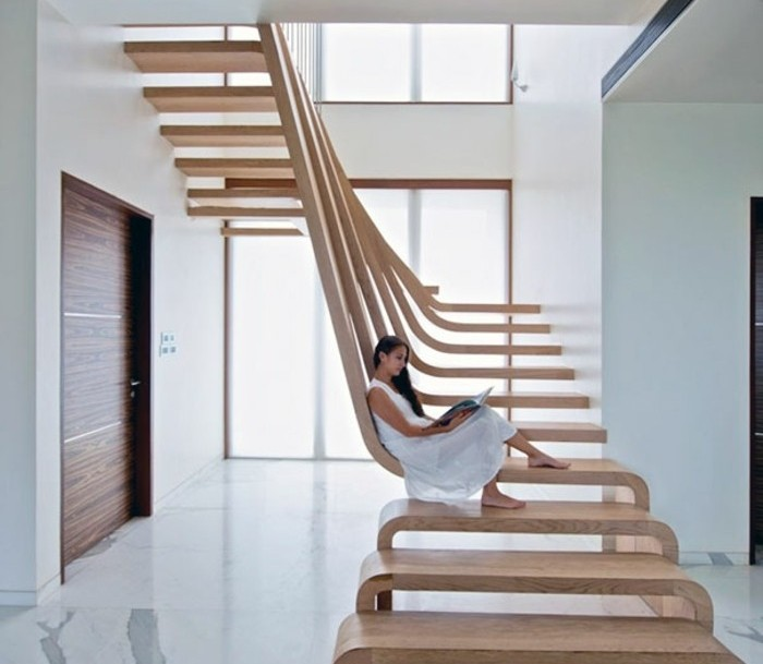 Image gallery escalier moderne for Rampe escalier moderne