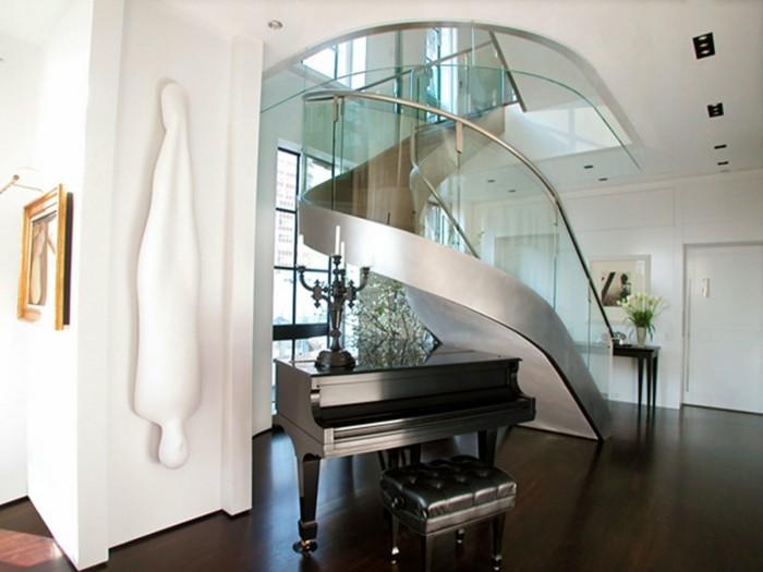 escalier-moderne-design-magnifique-contemporain-balustrade-en-verre-marches-d'acier