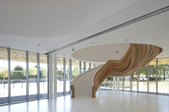 escalier-moderne-idée-originale-escalier-design-intéressant