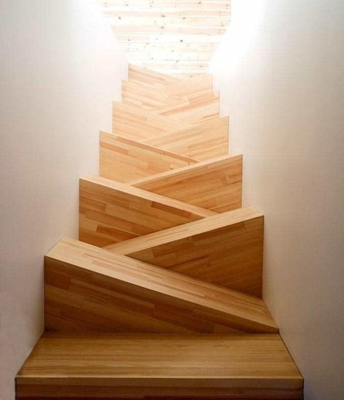 escalier-moderne-idée-originale-escalier-en-bois-marche-à-forme-extraordinaire