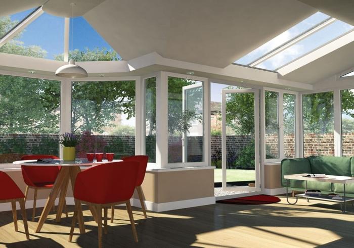 jolie-deco-veranda-aux-lignes-épurées-coin-repas-et-coin-détente-presqu-une-maison-à-part-entière