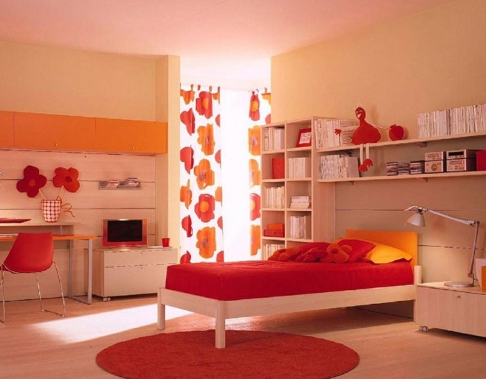 Awesome Chambre Orange Et Blanc Ideas - Matkin.info - matkin.info