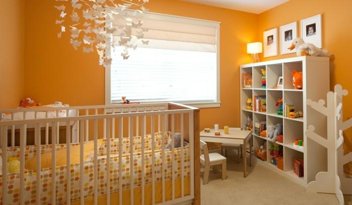 La peinture chambre b b 70 id es sympas for Chambre bebe petit espace