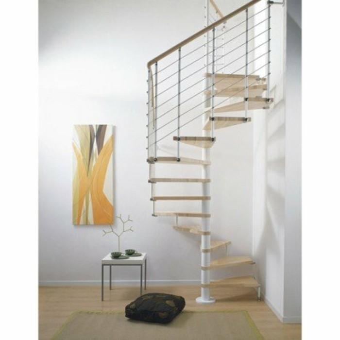 escalier-leroy-merlin-pour-optimisation-de-l'espace-escalier-helicoidal-carré-balustrade-metallique-marches-en-hêtre