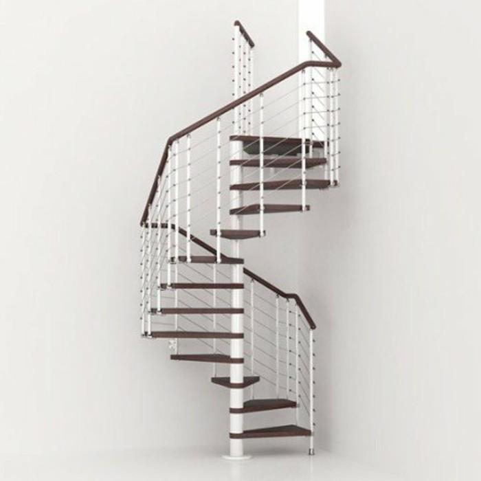 escalier-leroy-merlin-idée-esclaier-en-bois-et-métal-escalier-helicoidal