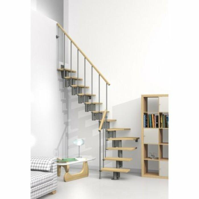 escalier quart tournant compact