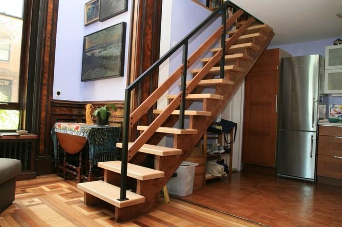 escalier-moderne-style-simple-escalier-en-bois-garde-corps-en-bois-et-métal