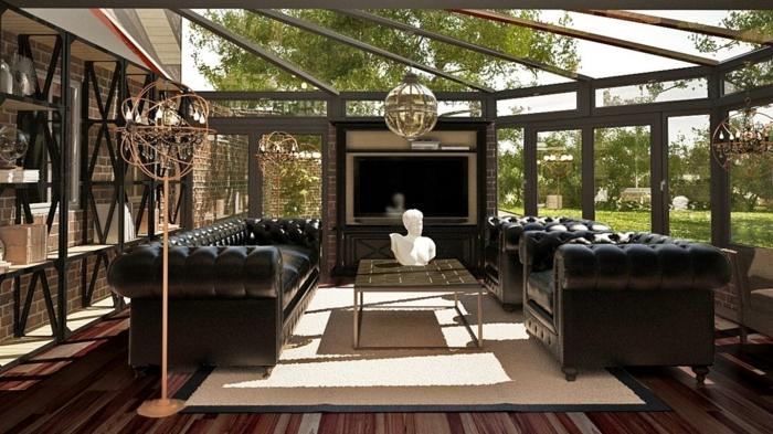 idee-deco-veranda-inspirée-du-style-art-deco-amenagement-veranda-en-couleurs-sombres
