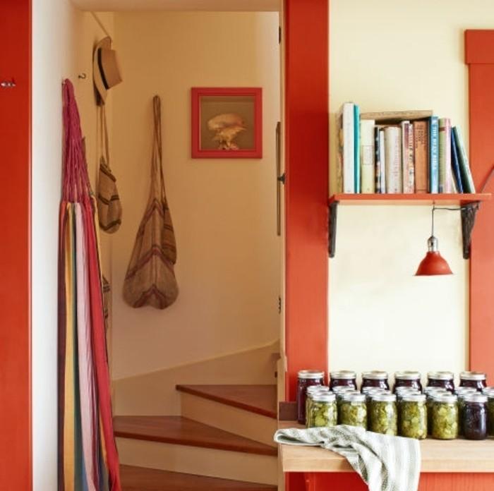 jolie-idee-deco-escalier-style-rustique-escalier-quart-tournant-en-bois-deco-murale-magnifique