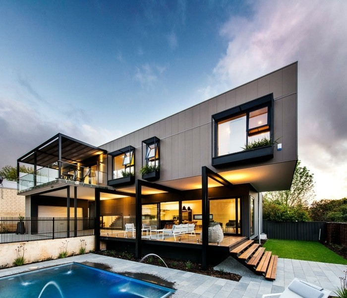 pergola-terrasse-créée-en-extension-d-une-maison-ultra-moderne-et-très-chic