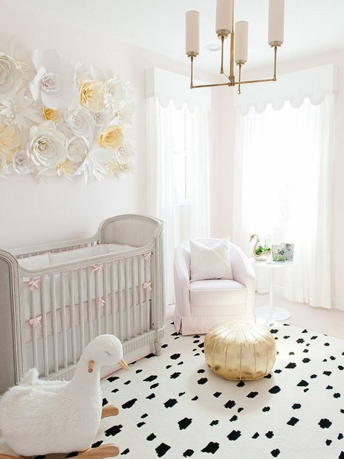 La peinture chambre b b 70 id es sympas for Peinture murale rose