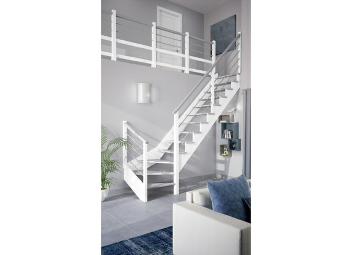 escalier quart tournant lapeyre. Black Bedroom Furniture Sets. Home Design Ideas
