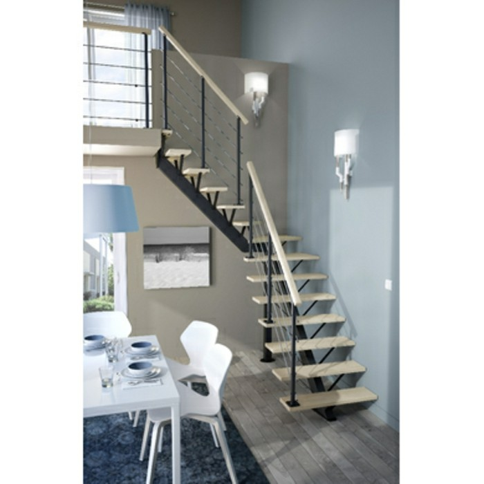 escalier en kit fabulous dans beaucoup de secteurs des escaliers droits conviennent mieux que. Black Bedroom Furniture Sets. Home Design Ideas