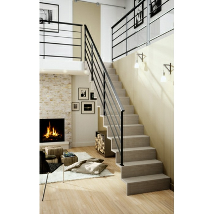 escalier droit leroy merlin amnagements sous escalier. Black Bedroom Furniture Sets. Home Design Ideas