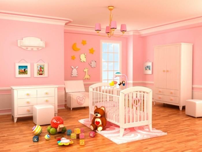 deco-chambre-bebe-fille-en-rose-meubles-blancs-chambre-spacieuse-sol-stratifié