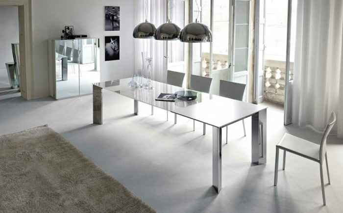 deco salle a manger blanche dcor tout en - Decoration Salle A Manger Gris Et Blanc