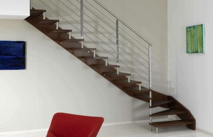 escalier-moderne-design-épuré-escalier-quar-tournant-garde-corps-métallique