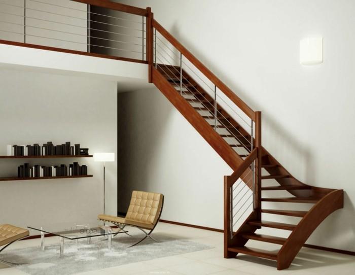escalier-moderne-design-simple-en-bois-marron