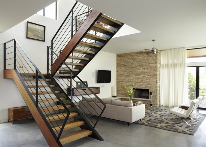 escalier-moderne-escalier-demi-tournant-escalier-en-bois