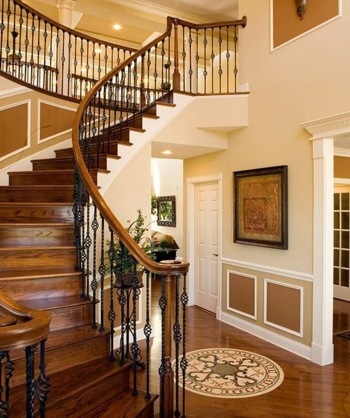 escalier-moderne-escalier-quart-tournant-en-bois-marron-escalier-sophistiqué-balustrade-design-élégant
