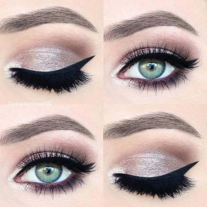 3-maquillage-yeux-verts-fard-a-paupiere-en-rose-argenté-yeux-vert