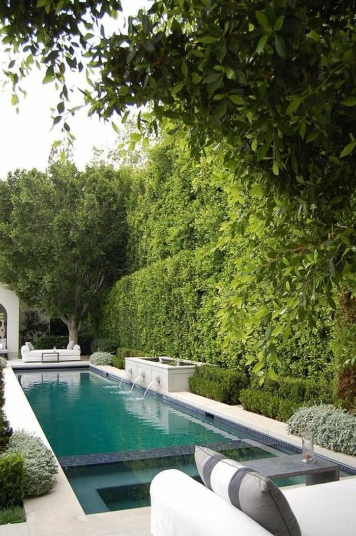 31-Mur de clôture. Une piscine.