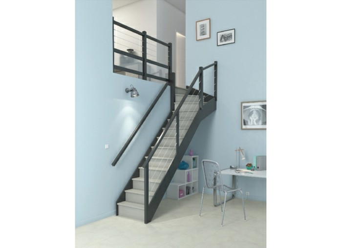 escalier quart tournant sur mesure. Black Bedroom Furniture Sets. Home Design Ideas
