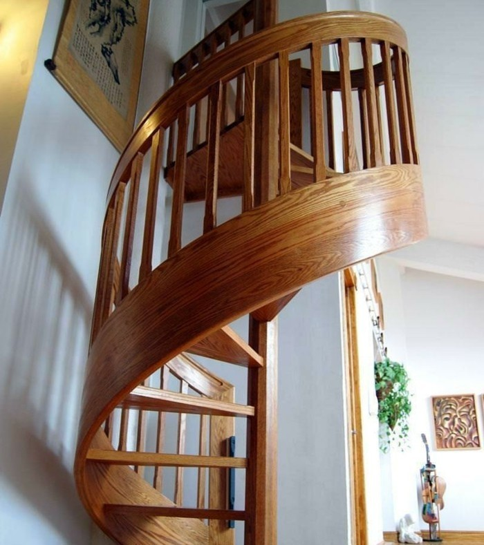 escalier-moderne-colimaçon-escalier-en-bois