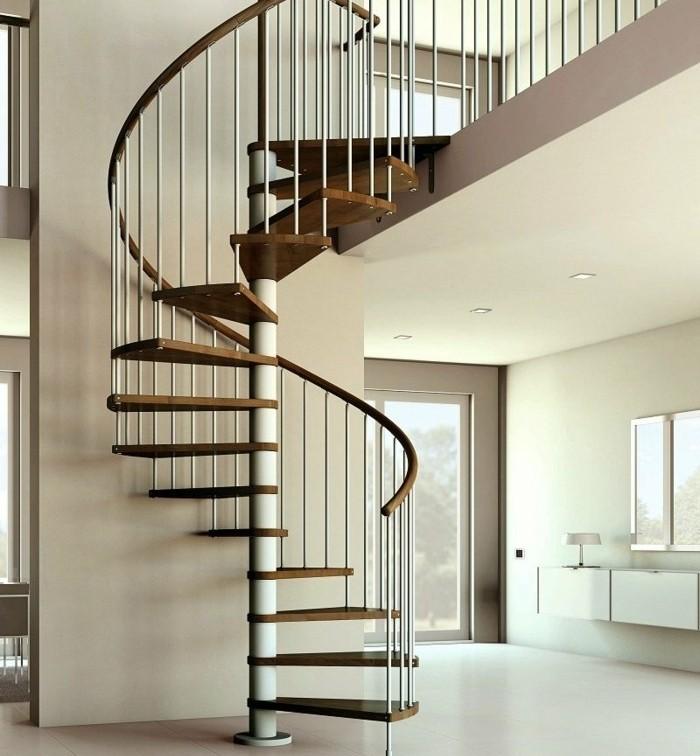 escalier-moderne-escalier-design-élégant
