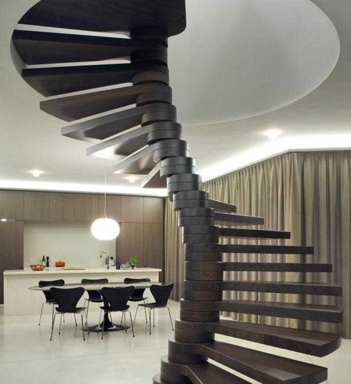 escalier-moderne-escalier-helicoidal-en-bois-marron