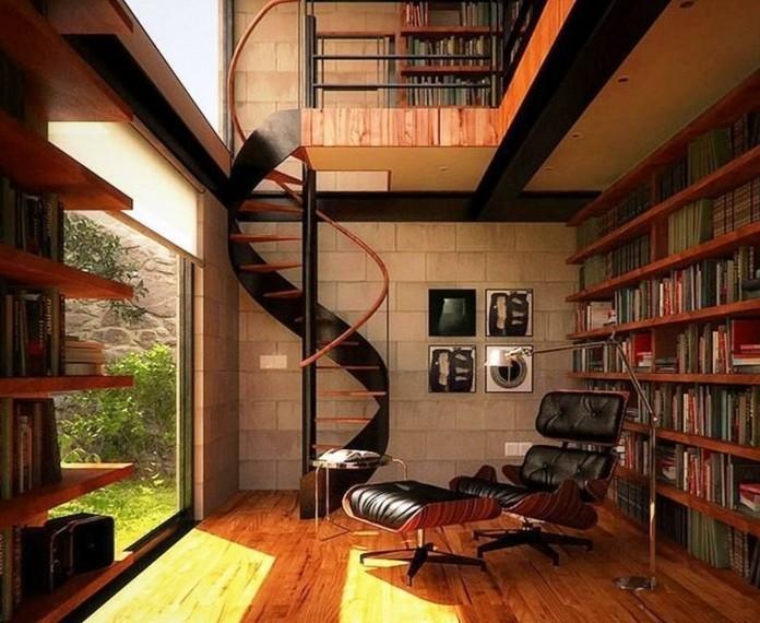 escalier-moderne-modele-escalier-helicoidal-en-noir