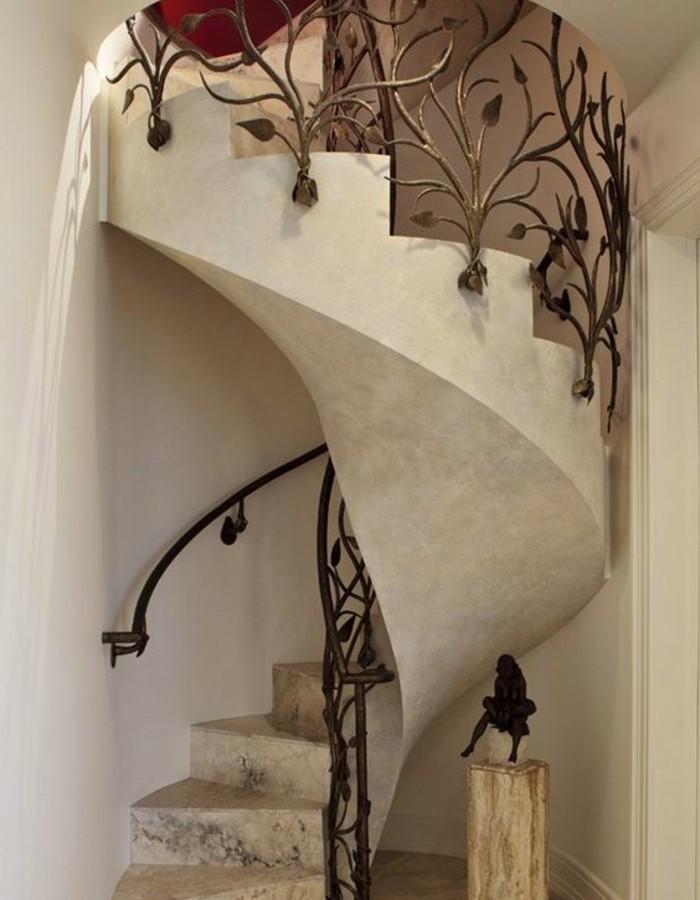 escalier-moderne-remarquable-escalier-colimaçon-en-marbre-rambarde-escalier-à-motifs-floraux