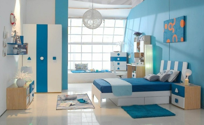 idee peinture chambre garcon peinture chambre enfant en blanc et - Peinture Enfant Chambre Garcon