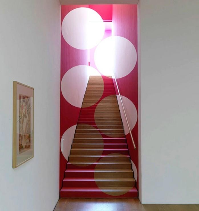 peinture-escalier-bois-originale-effet-trompe-l'-oeil-imitation-taches