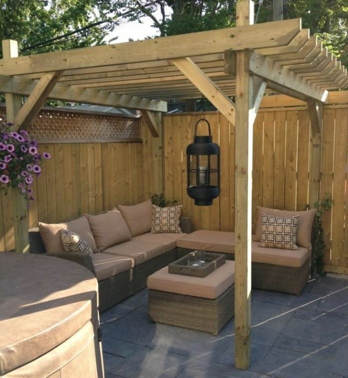 pergola adossee bois detente plein air accueil design et mobilier. Black Bedroom Furniture Sets. Home Design Ideas