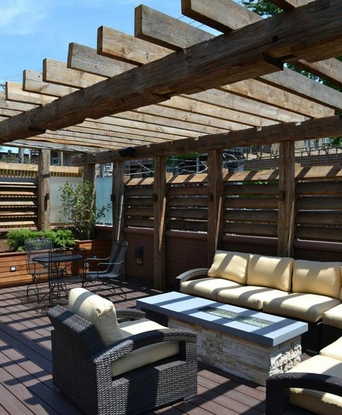 pergola adossee bois detente plein air accueil design et. Black Bedroom Furniture Sets. Home Design Ideas