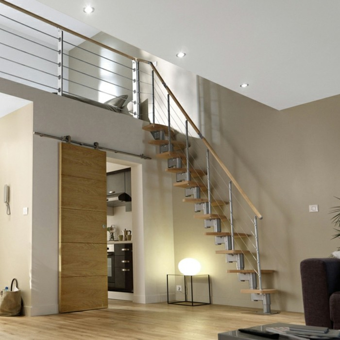 escalier-gain-de-place-castorama-escalier-à-pas-décalés-modele-escalier-en-bois