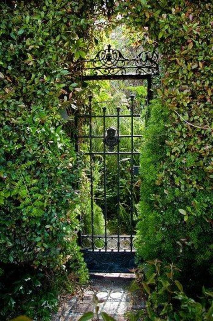 46-Mur de cloture. Une porte.