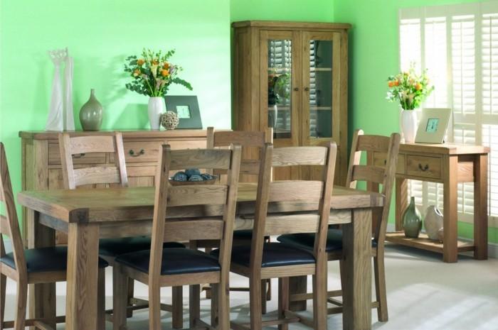 decoration-salle-a-manger-verte-meubles-en-bois-ambiance-naturelle-accueillante