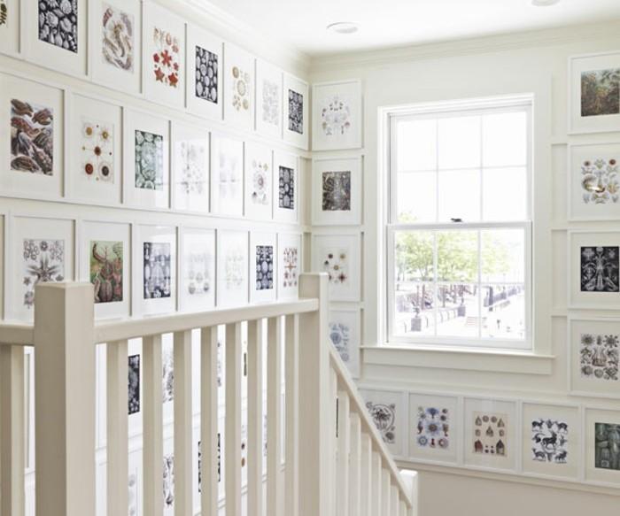 excellente-idee-deco-escalier-avec-des-images-encadrées-deco-abondante