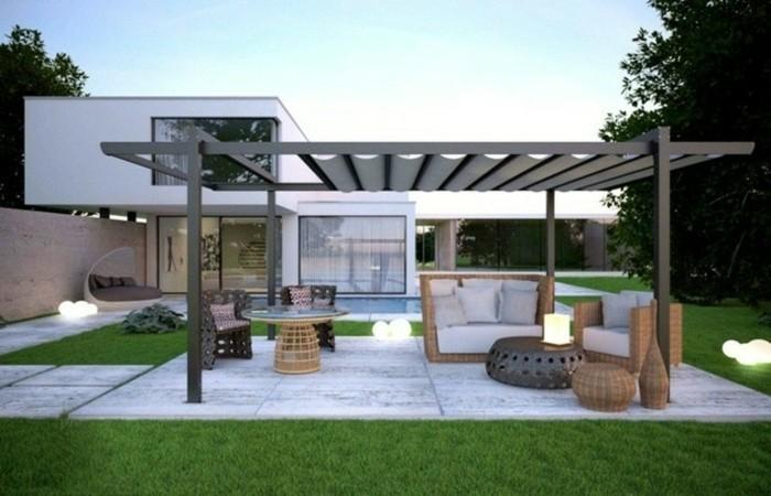 pergola-aluminium-autoportée-meubles-en-rotin-design-originale-innovative