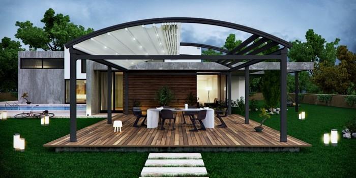 pergola moderne 99 id es inspirantes. Black Bedroom Furniture Sets. Home Design Ideas