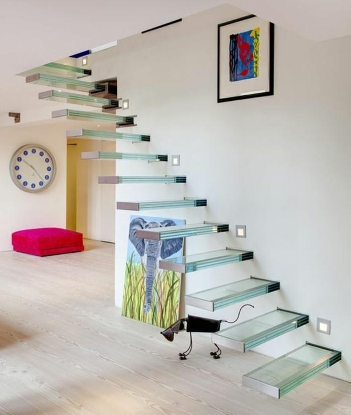 L 39 escalier moderne en 110 photos magnifiques - Escalier en verre design ...