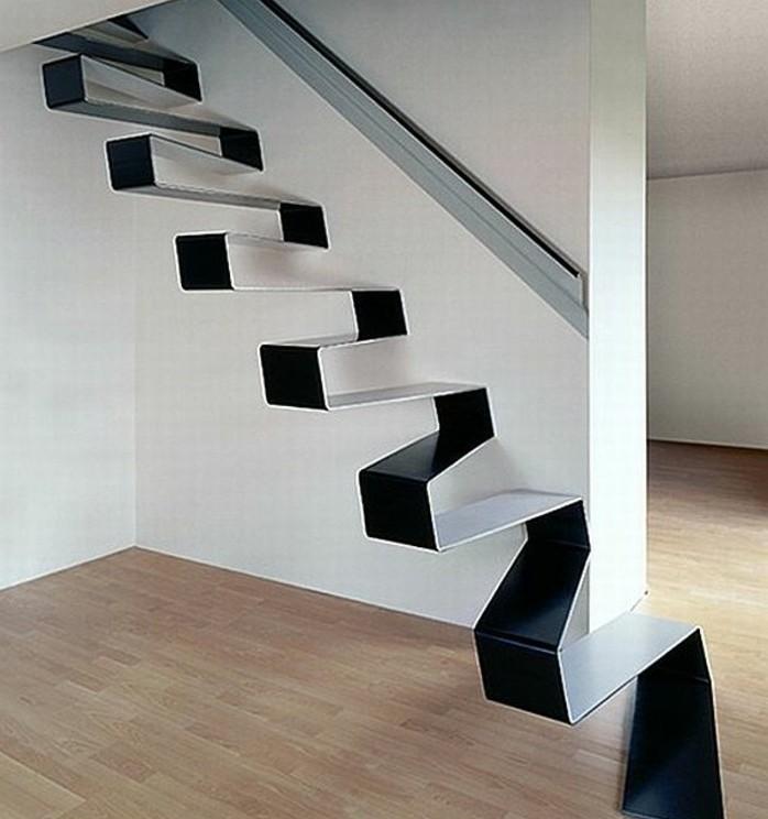escalier-moderne-modele-escalier-suspendu-design-original-en-noir