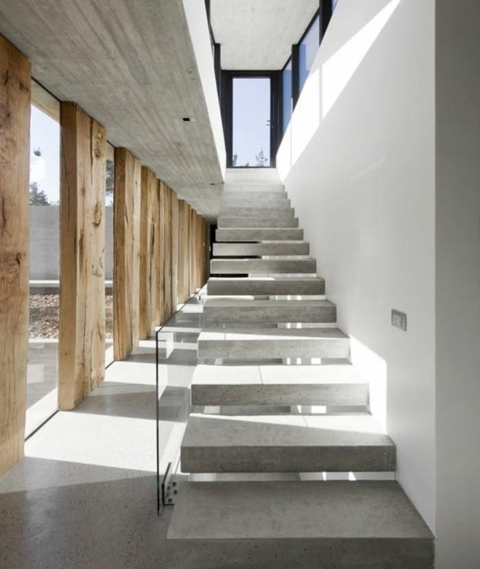 escalier-moderne-modele-escalier-suspendu-en-béton