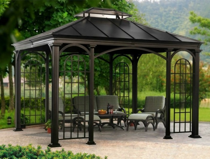 pergola moderne 99 id es inspirantes. Black Bedroom Furniture Sets. Home Design Ideas