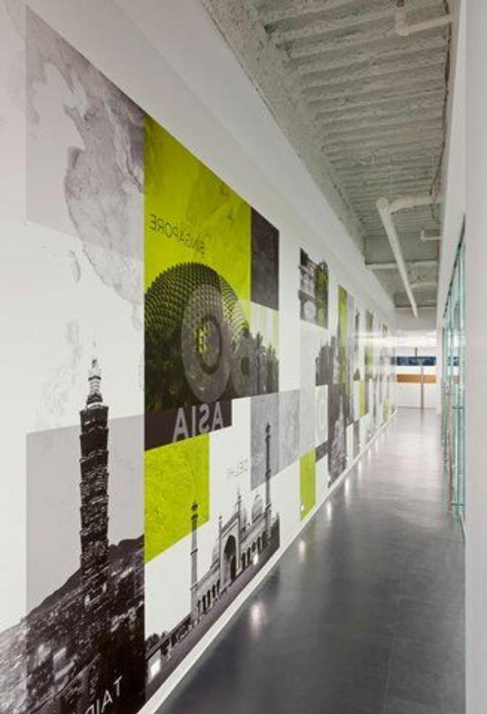 63-Papier peint couloir. Photos.
